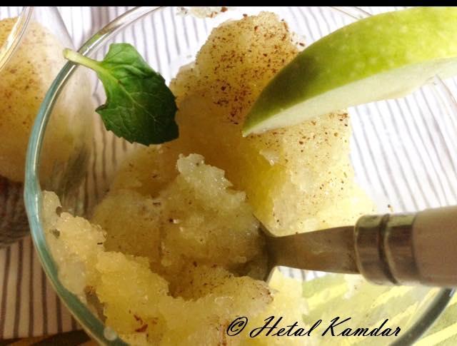 green-apple-granita / green-apple-granita / recipe of green apple granita