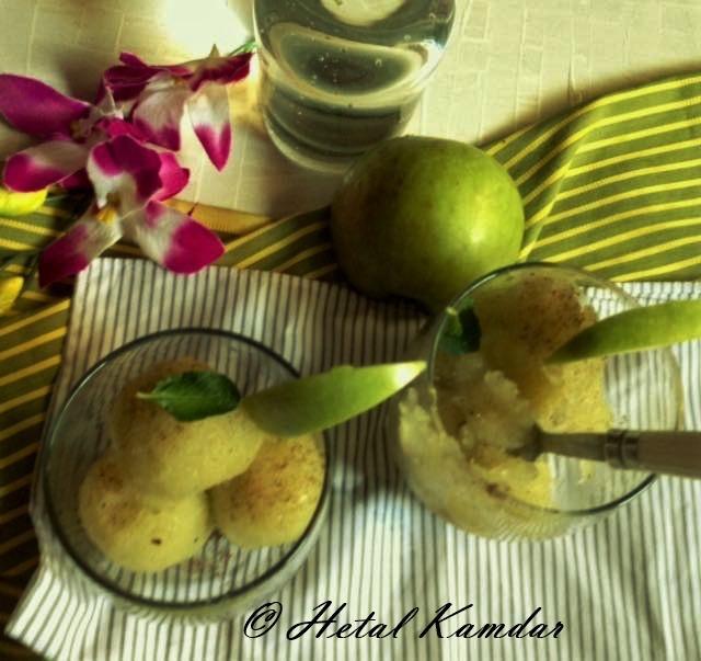 green-apple-granita / recipe of green apple granita