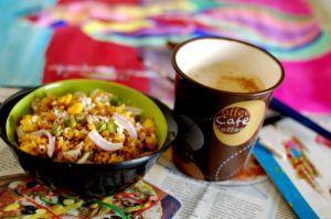 peas-and-corn-oats-poha recipe of Peas And Corn Oats Poha