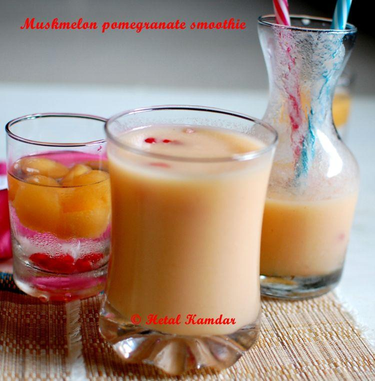 muskmelon-pomegranate-smoothie