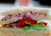 Veggie And Mayo Clubhouse Sandwich