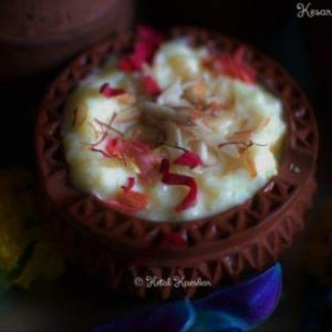 kesar-badam-phirni | kesar badam phirni recipe