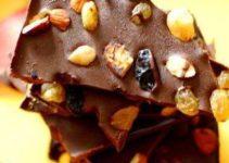 Christmas Fruit And Nut Chocolate Bark