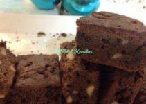 Eggless Chocolate Almond Brownies