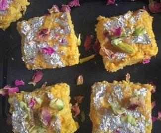 mango-kalakand-mango-cottage-cheese-fudge
