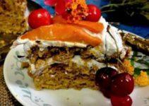 Eggless Multigrain Mango Jaggery Cake