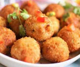 close up view of Corn Cheese Balls