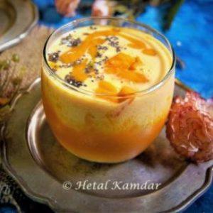 Peach-Mango-Oatmeal -Smoothie