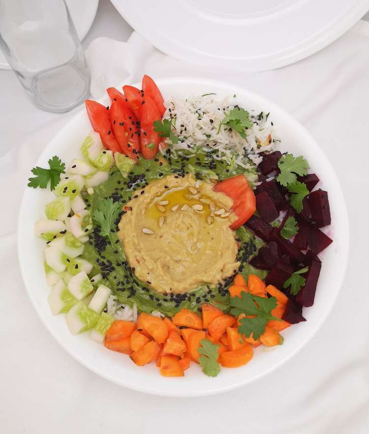 How to make hummus bowl / hummus bowl