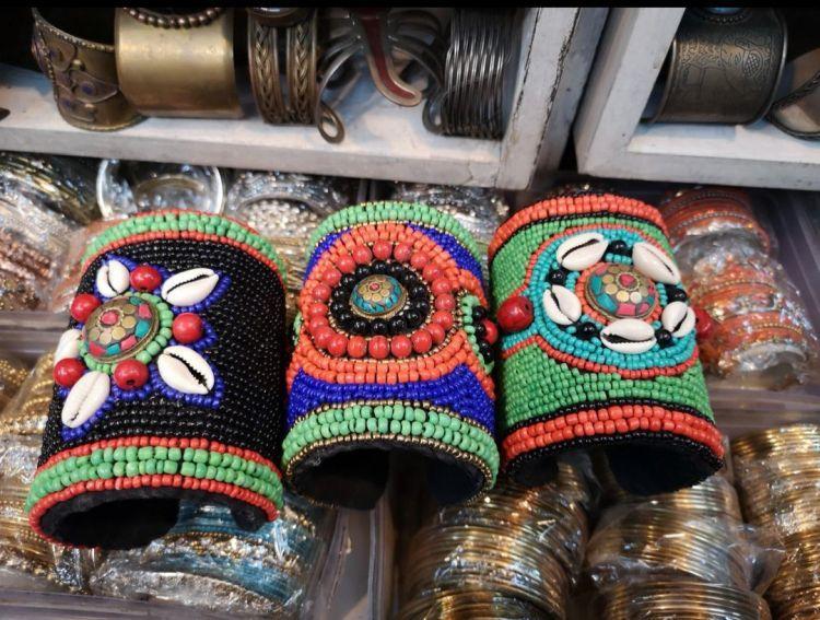 Jewelry at Janpath Market street shopping in Delhi at janpath market