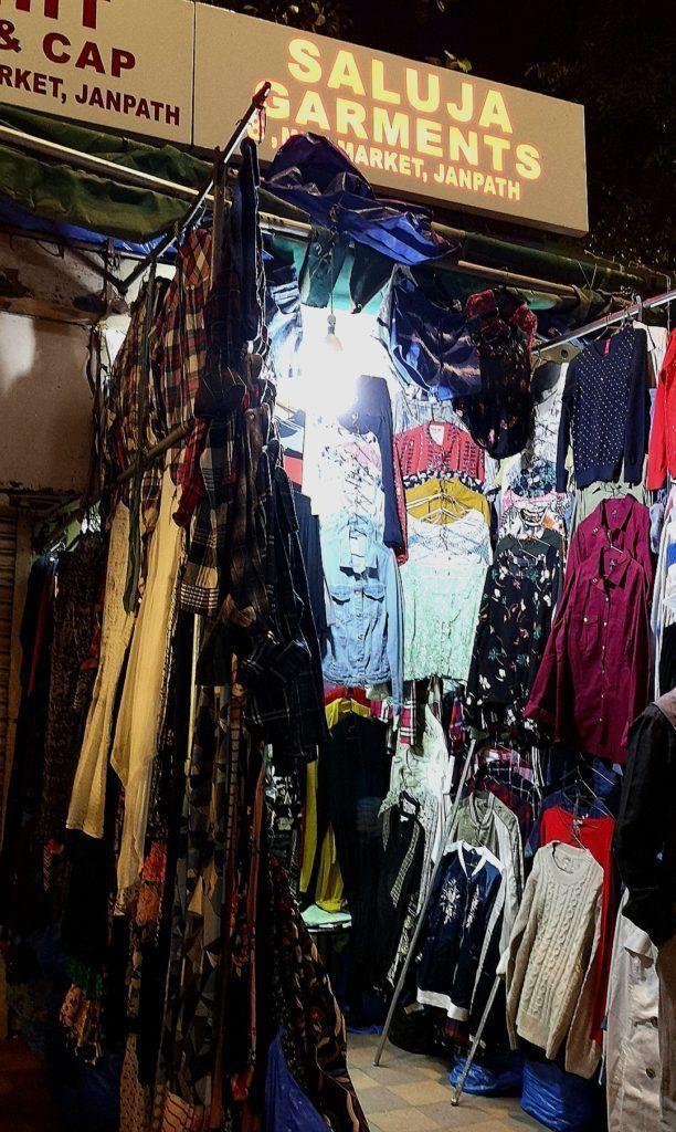 Clothes at Janpath Market