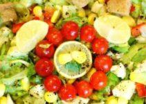 Fresh Veggie and Lettuce Salad