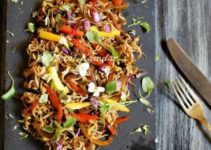Indo-Chinese Bell Pepper Sprout Salad