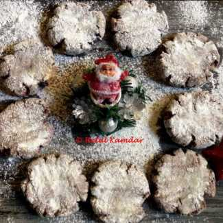 chocolate-coffee-snowy-cookies
