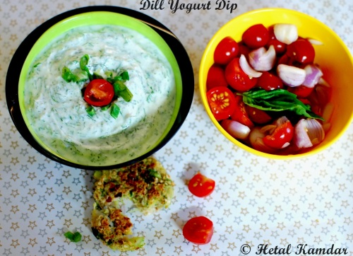 Dill yogurt dip