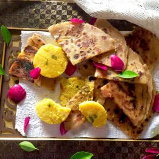 Kesar Peda Paratha / Sweet Paratha