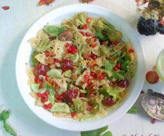 veg-pasta-with-fruit-salad