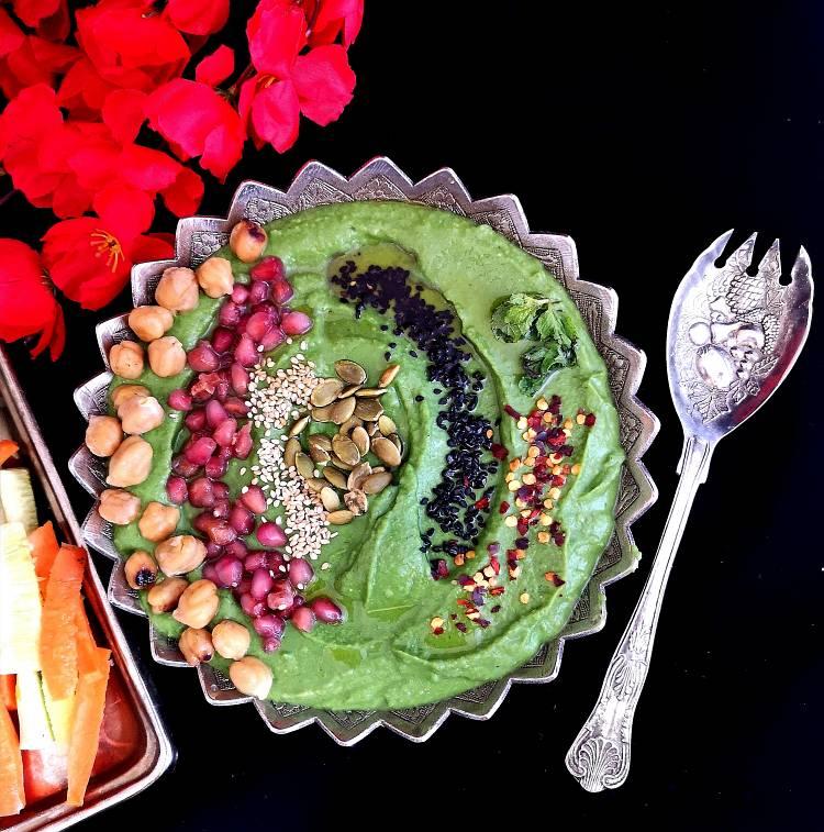 Spinach-Hummus