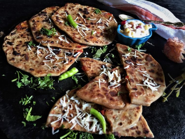 cheese-parathas