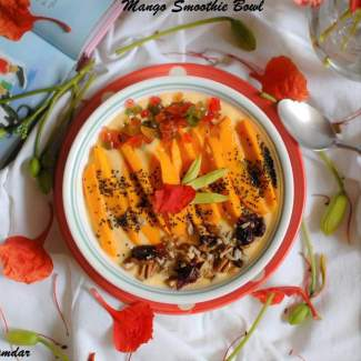 Mango And Oats Smoothie Bowl
