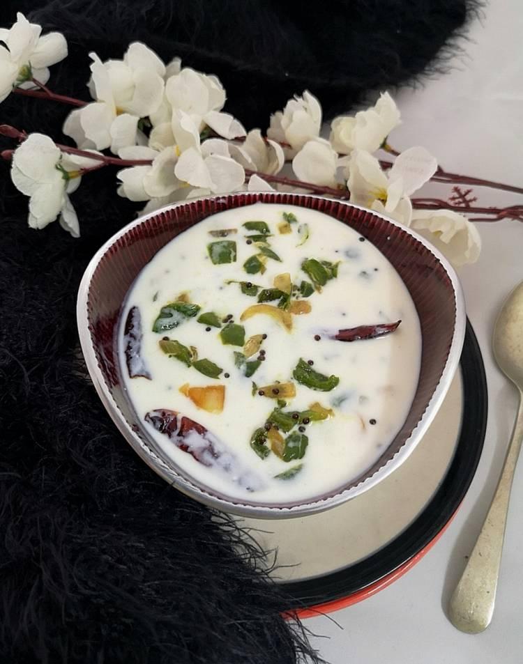 how to make Capsicum Raita or Shimla Mirch Raita / recipe of capsicum raita