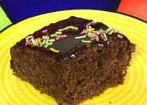 Eggless Chocolate Ragi Cake