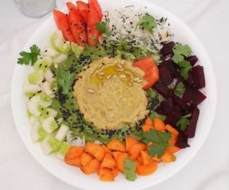 How to make hummus bowl / hummus bowl