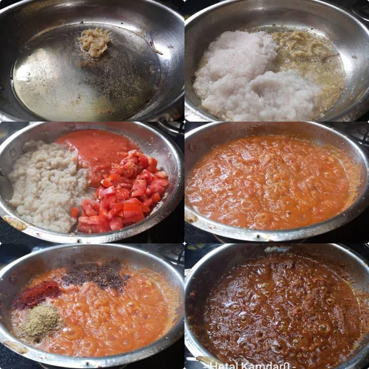 preparing gravy for Kadai Paneer Masala | Kadai Paneer Gravy | Kadai Paneer Sabzi