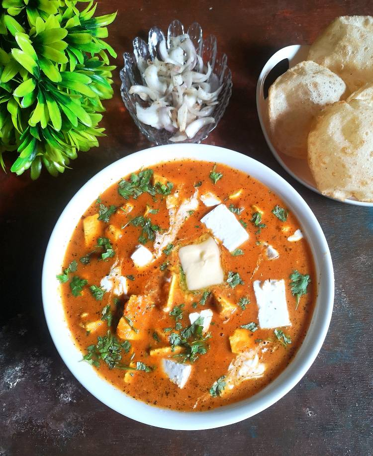 Paneer Butter Masala ready to serve
