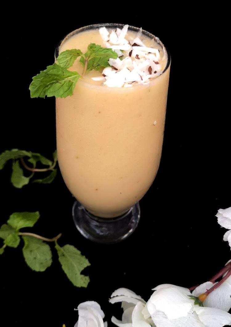 Pinacolada-Smoothie/ how to make pinacolada smoothie
