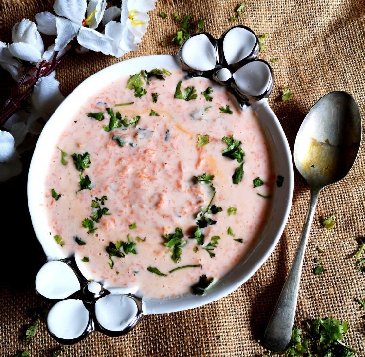 carrot raita / carrot raita benefits / carrot raita for biryani / simple carrot raita / carrot pachadi
