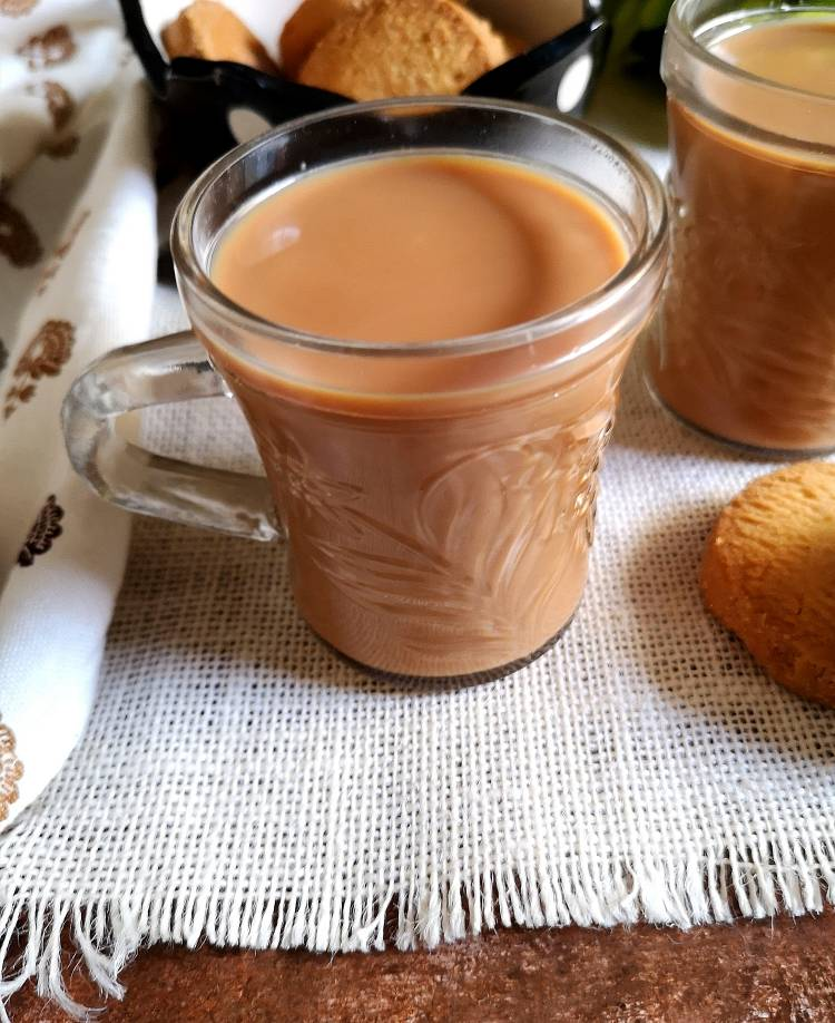 ginger tea served with cookies | ginger tea recipe | adrak wali chai recipe