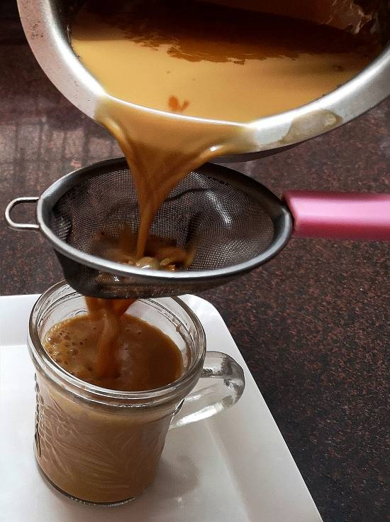tea strained for ginger tea recipe | adrak wali chai recipe