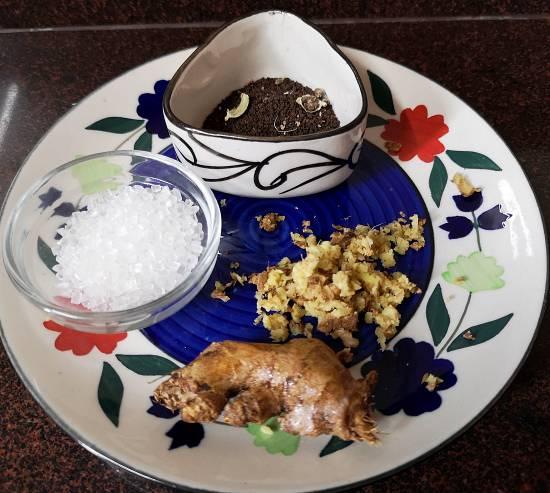 grating ginger for ginger tea recipe | adrak wali chai recipe