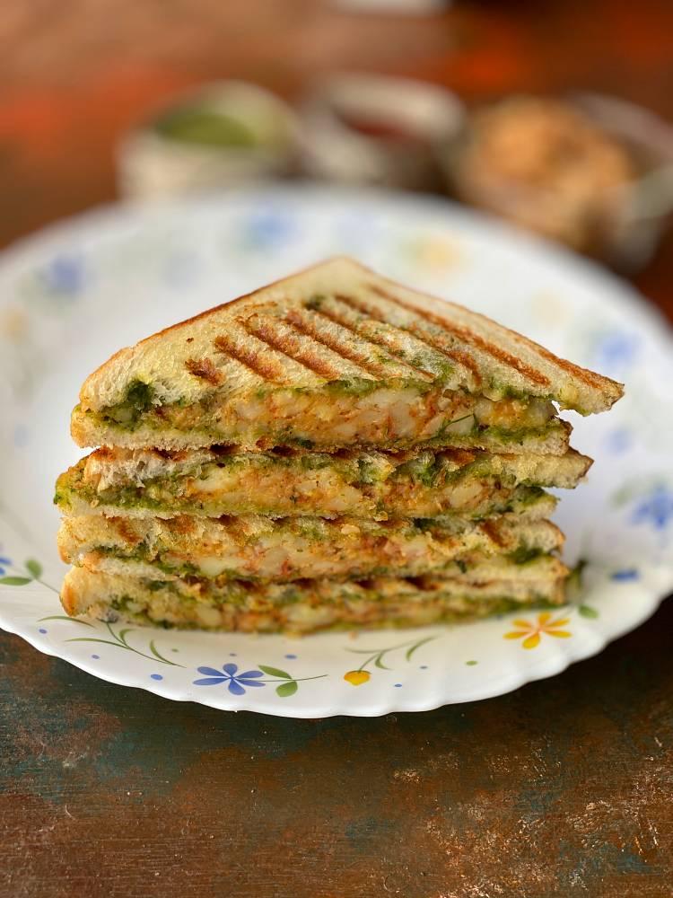 slices of Grilled Potato Sandwich ready to be served, Potato sandwich recipe
