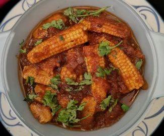 kadai baby corn recipe with kadai masala