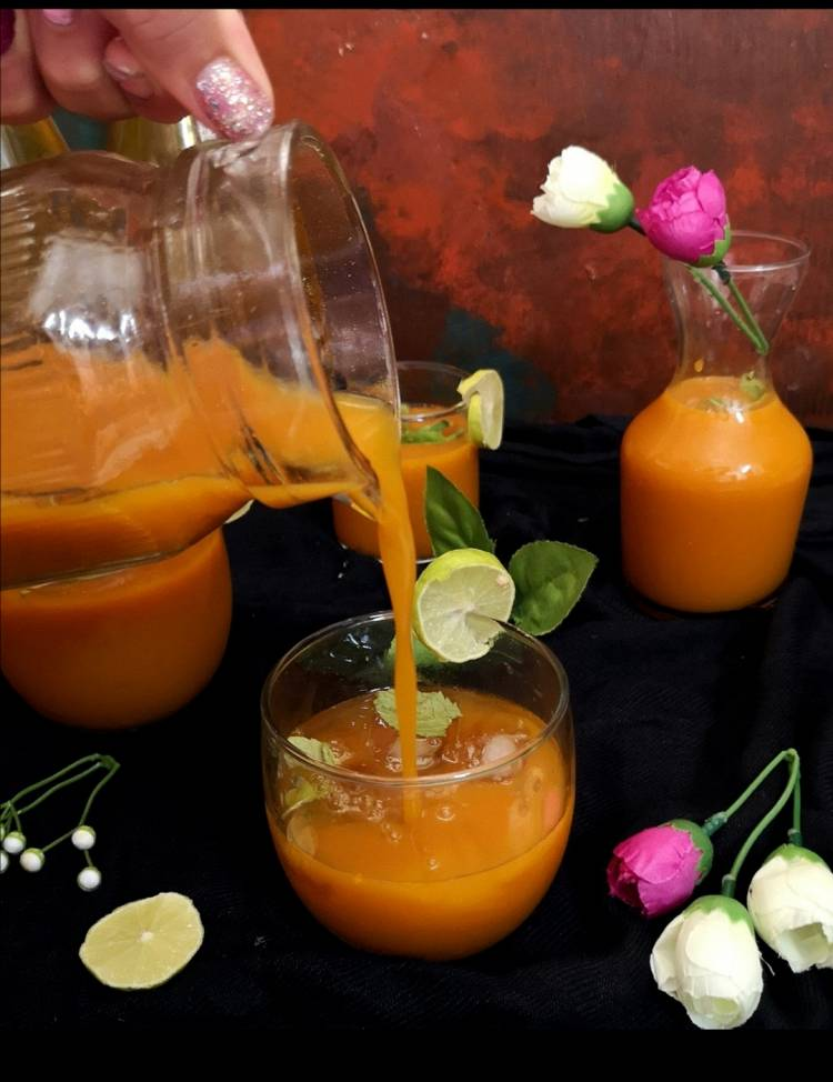mango icea tea / recipe of mango ice tea / alphonso iced tea rcipe / how to make mango iced tea at home