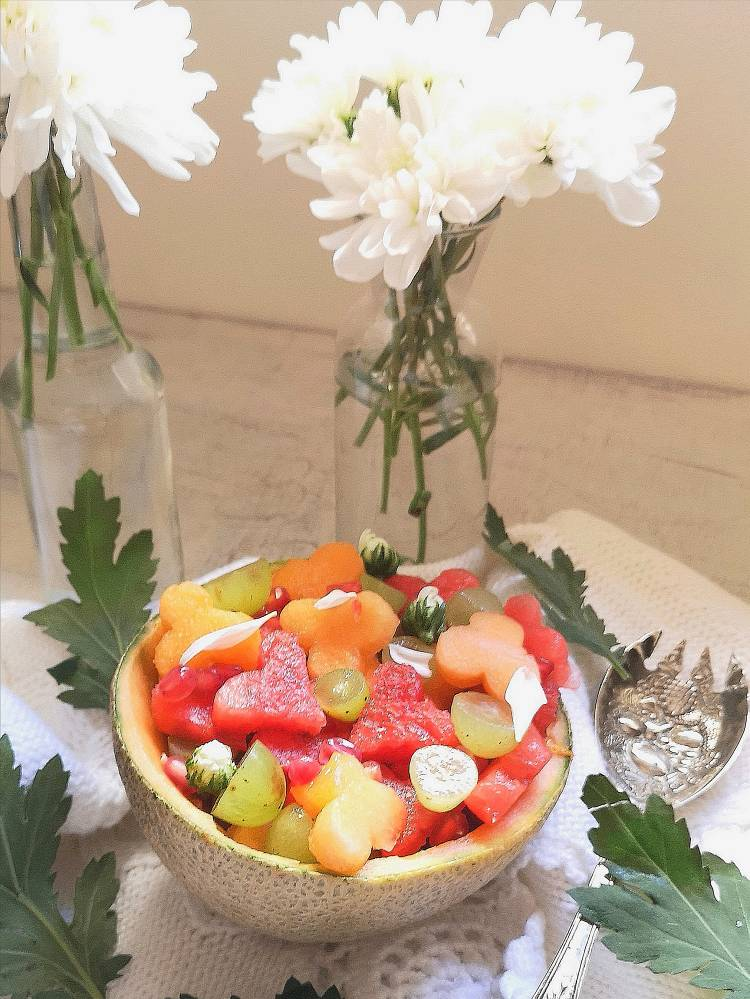 melon fruit bowl recipe