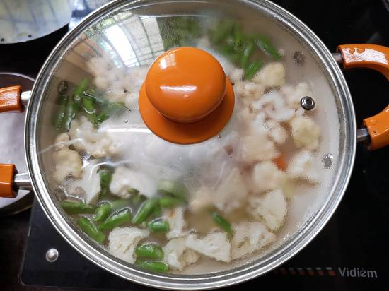 Boiling vegetables for Mix Veg Recipe, mix veg curry recipe