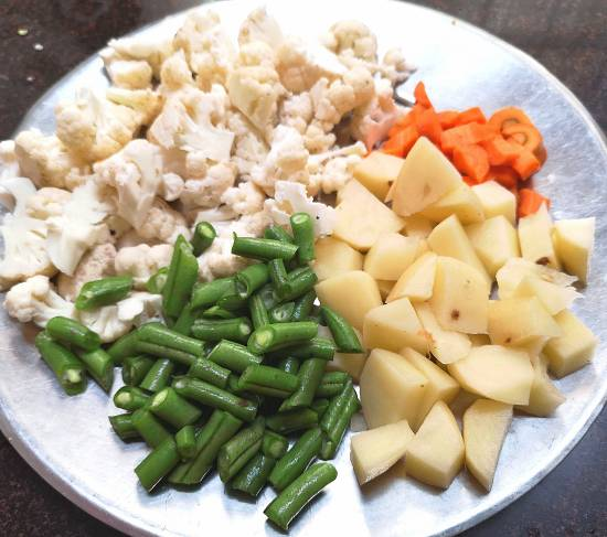 Vegetables for Mix Vegetable Curry Recipe, mix veg curry recipe