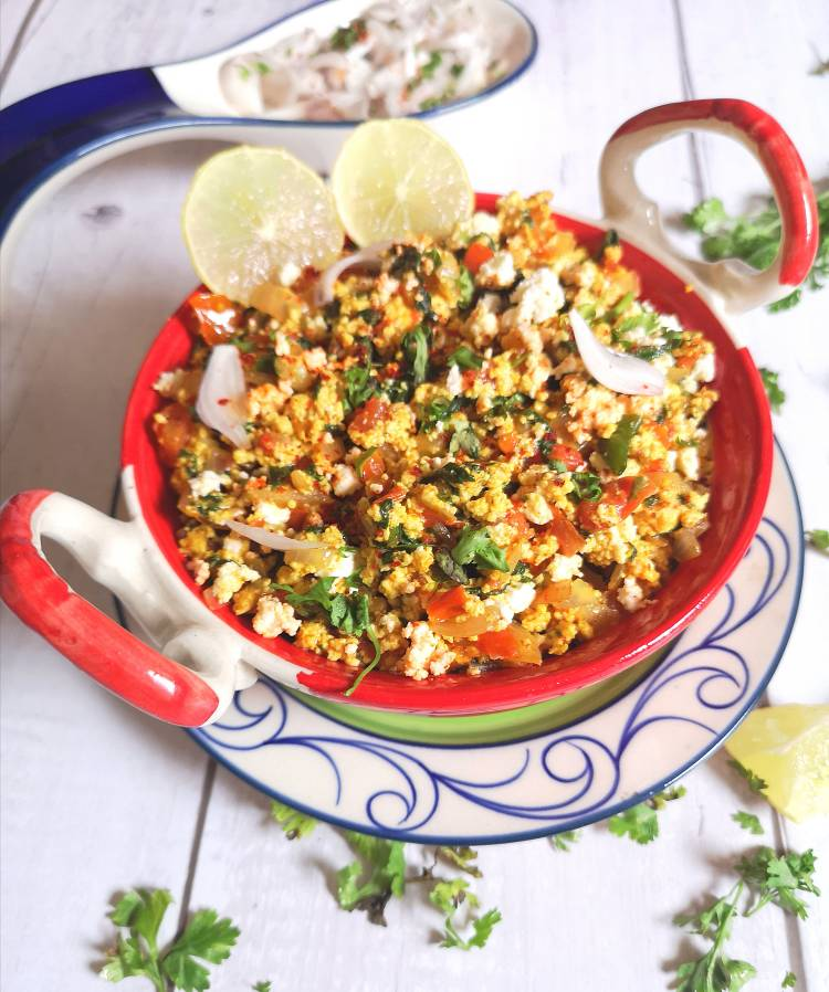 how to make palak paneer bhurji / recipe of paneer palak bhurji / how to make Spinach Cottage Cheese Scramble
