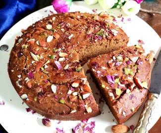 How to make Parle G Cake, close up view of moist and fluffy parle g cake