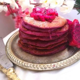 Pink Pitaya Pancakes | Dragon Fruit Pancakes