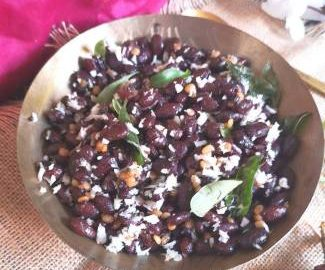 close up view of Rajma Sundal