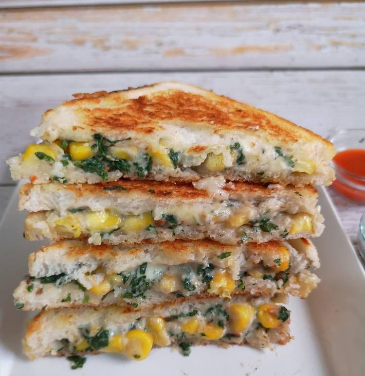 Spinach-Corn-Sandwich sweet-corn-recipes