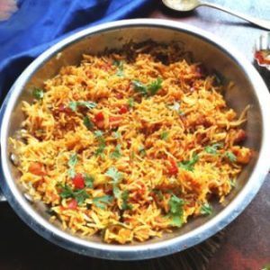 recipe of tomato rice, tomato bhaat recipe, thakkali sadam recipe