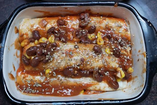 beans and corn enchiladas recipe