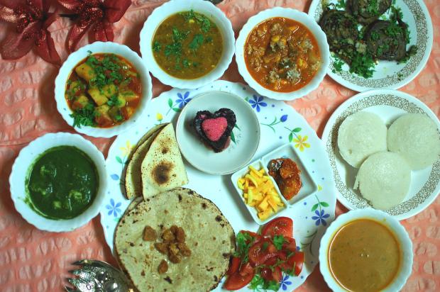 Recipe creator winner, indian thali