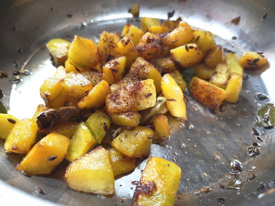 add cumin powder for pumpkin vegetable