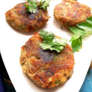 Vrat Wali Sweet Potato Tikkis